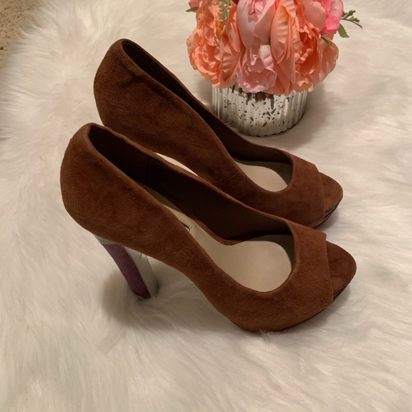 H by Halston Shoes - H by Halston cognac heels, size 7